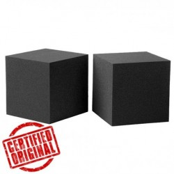 Cuburi fonoabsorbante ignifugate pentru tratament acustic cu latura de 30 cm.